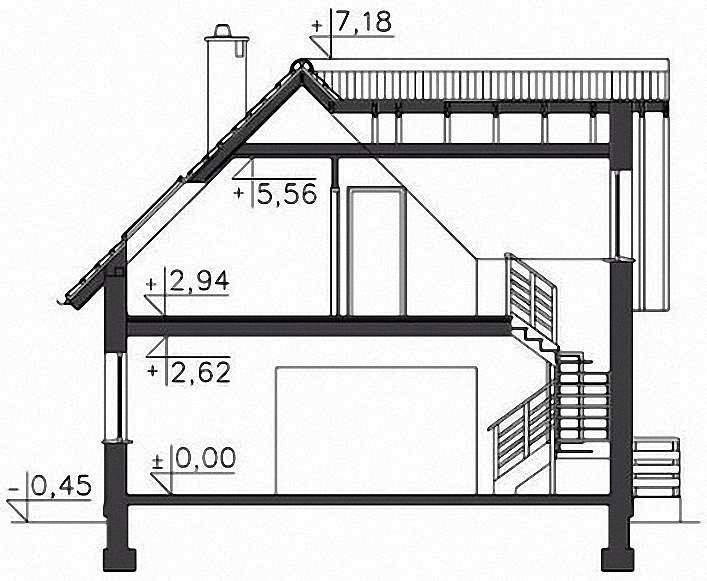 Проект Э278 дом с мансардой Общая площадь 112,1 м2