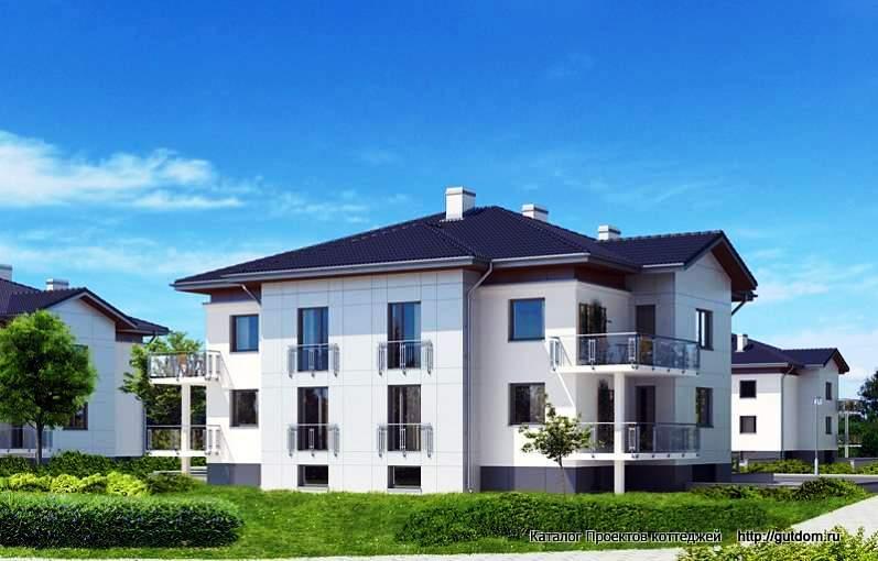 дом двухэтажный с цоколем