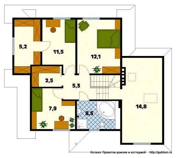 План мансарды дома