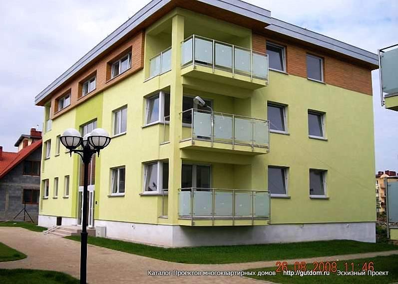 многоквартирный трехэтажный дом