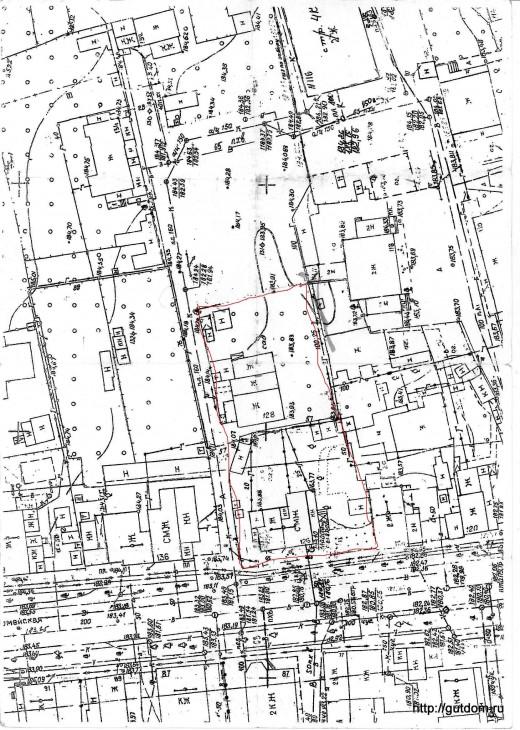 план участка застройки
