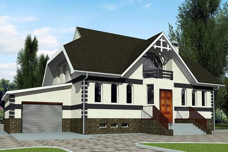 двухэтажный дом из газоблоков