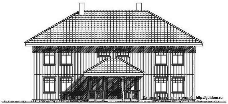 фасад двухэтажного дома