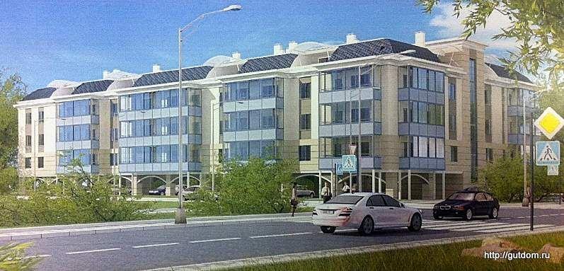 трехэтажный дом с парковкой