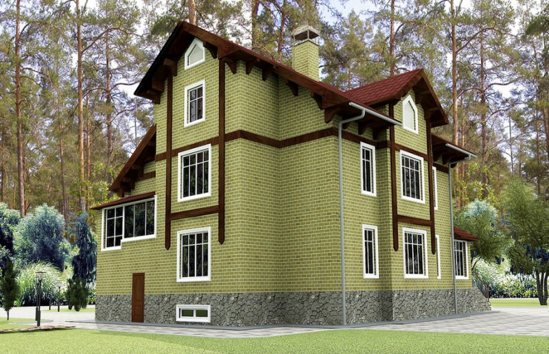 дом двухэтажный с подвалом