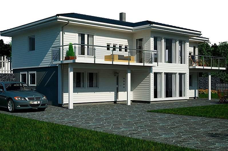 дом двухэтажный загородный