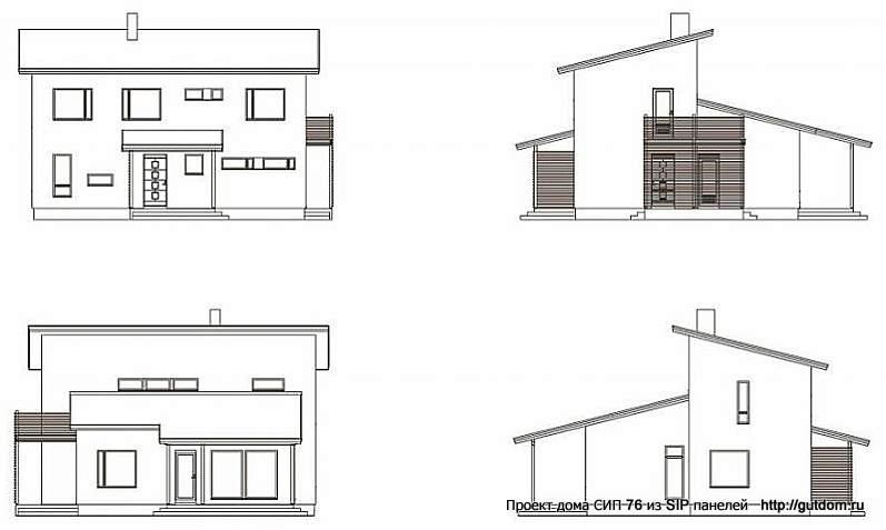 четыре фасада дома