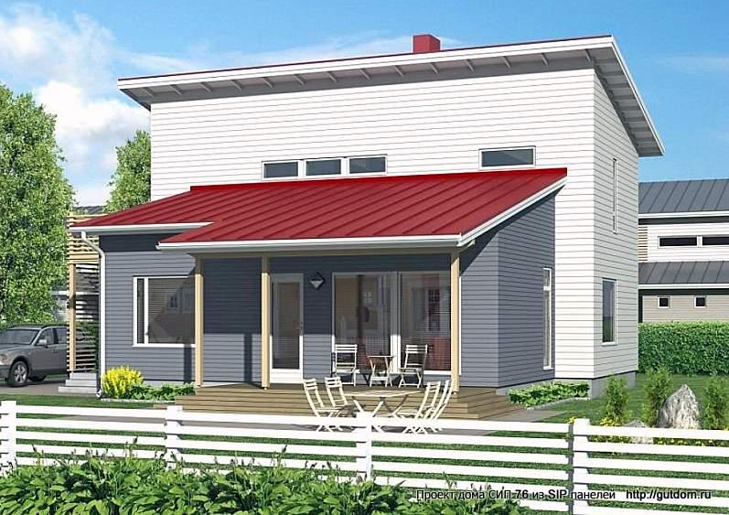 дом двухэтажный с террасой
