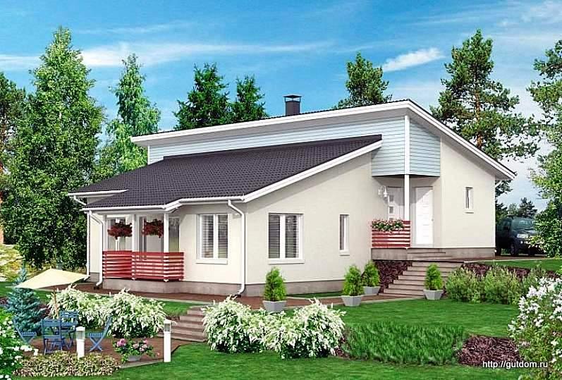 каркасный одноэтажный дом