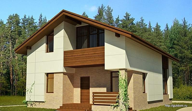 каркасный дом двухэтажный