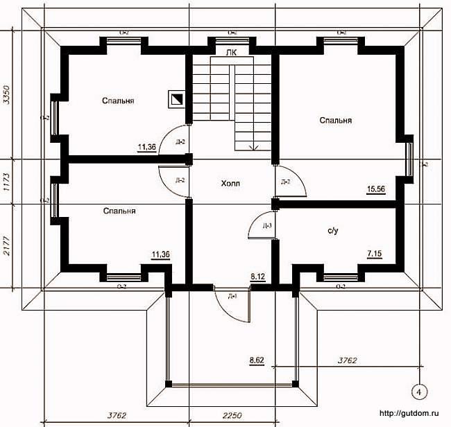 План второго этажа, Проект СИП 107