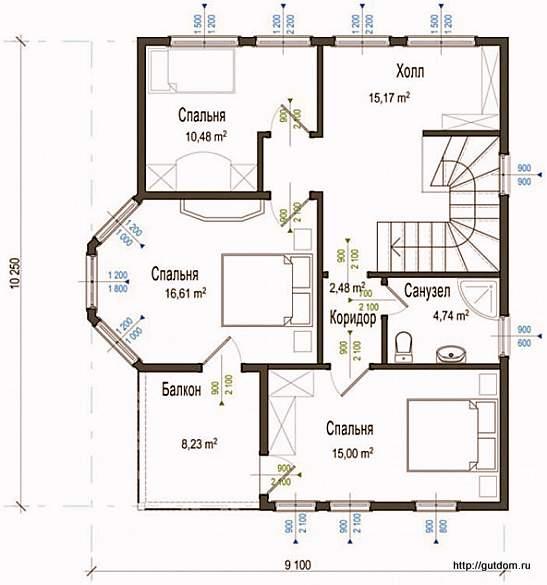 План второго этажа СИП Дом 133
