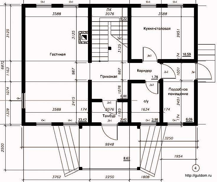 План первого этажа, Проект СИП 107