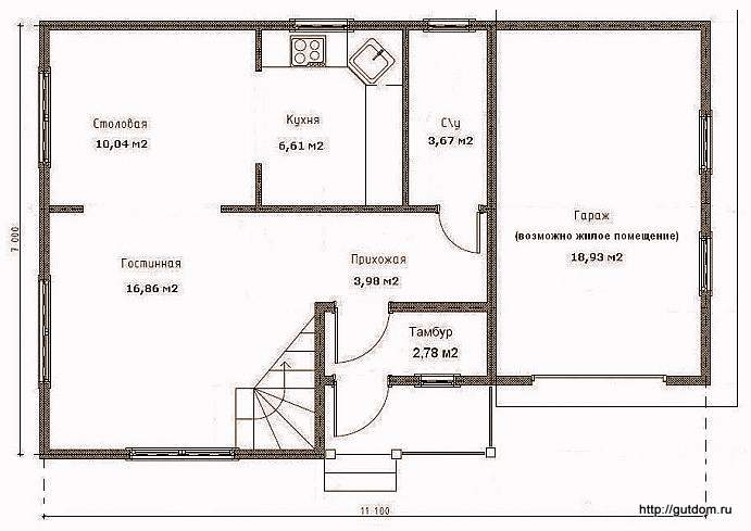План первого этажа, Проект СИП 123
