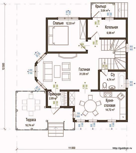План первого этажа СИП Дом 133