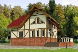 Проект ГБ20 двухэтажного четырехквартирного дома, эскиз 1