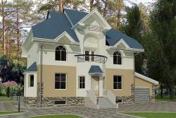 Проект ГБ22 двухэтажного шестикомнатоного дома, эскиз 1