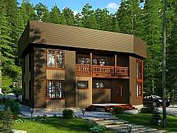 Проект СИП 136 дом двухэтажный ум