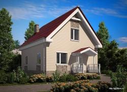 Проект двухэтажного дома СИП 103 площадью 91,5 м2