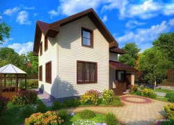 Проект двухэтажного дома СИП 123 площадью 106,33 м2