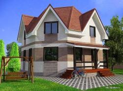 Проект двухэтажного дома СИП 124 площадью 108 м2