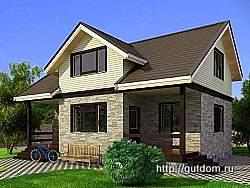 Проект двухэтажного дома СИП 125 площадью 113,5 м2 ум