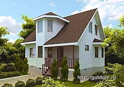 Проект двухэтажного дома СИП 126 площадью 114 м2 ум