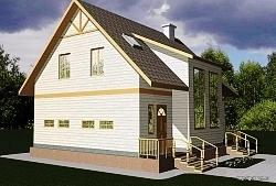 Проект двухэтажного дома СИП 15 ум