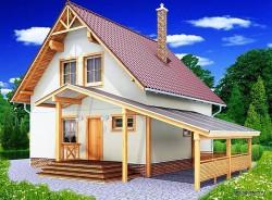 Проект двухэтажного дома СИП 44 площадью 93.1 м2, эскиз