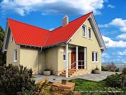 Проект двухэтажного дома СИП 74 ум