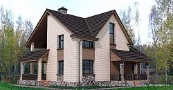 Проект двухэтажного дома СИП 83 ум