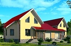 Проект двухэтажного дома СИП 84 площадью 316 м2 ум