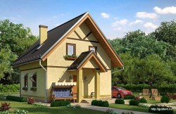 Проект дома с мансардой СИП 121 площадью 90 м2