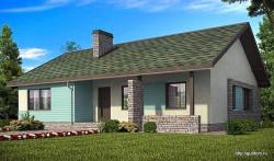 Проект одноэтажного дома СИП 101 площадью 87,8 м2, эскиз