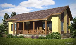Проект одноэтажного дома СИП 102 площадью 90 м2