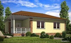 Проект одноэтажного дома СИП 105 площадью 98,39 м2