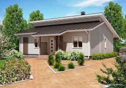 Проект одноэтажного дома СИП 52 площадью 107 м2, эскиз
