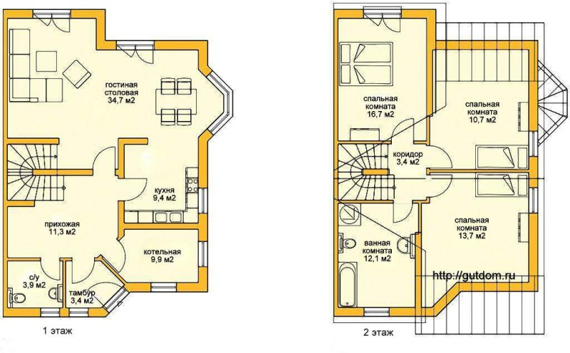 Поэтажные планы Проект ГБ71