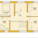 Проект ГБ42 дом двухэтажный из газоблоков площадью 138,9 м2