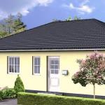 Проект одноэтажного дома из газобетона ГБ59 площадью 113 м2