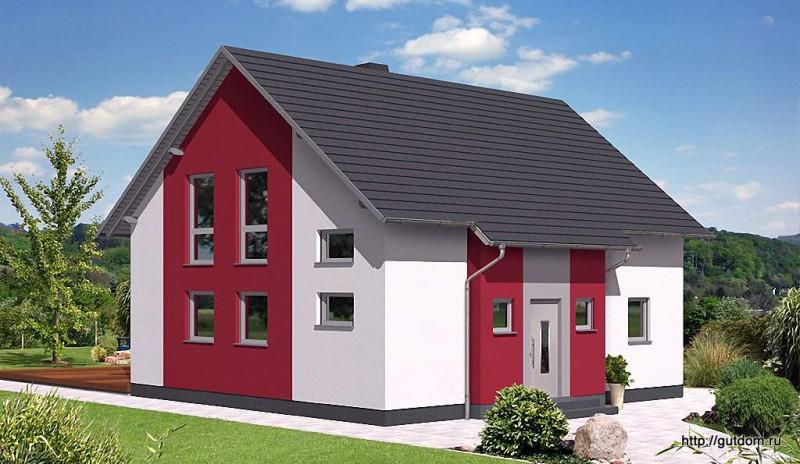Проект Ytong двухэтажного дома 124 м2, эскиз 2