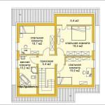 Проект двухэтажного дома ГБ50 из газобетона площадью 141,5 м2