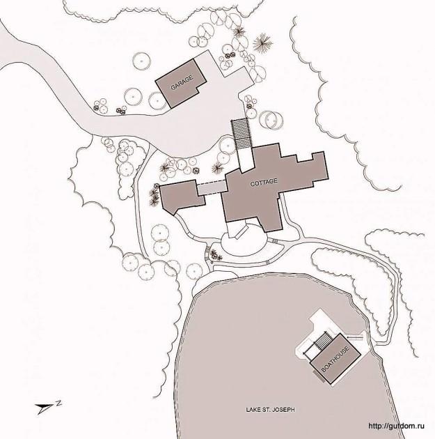 эллинг на озере Мускока эскиз 3