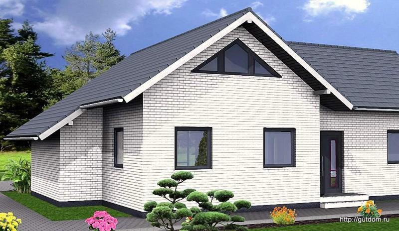 Ytong Проект ГБ60 передний фасад дома