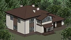 Проект двухэтажного дома Панц14 ум