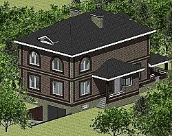 Проект двухэтажного дома Панц20 ум
