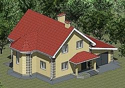 Проект двухэтажного дома Панц24 ум