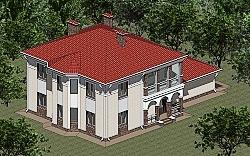 Проект двухэтажного дома из газоблоков Панц12 ум