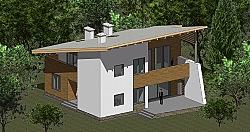 Проект двухэтажного дома из газоблоков Панц22 ум