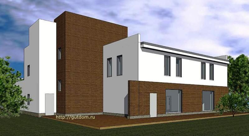 Проект двухэтажного дома из газоблоков Панц9 эскиз 2